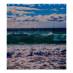 Wave Foam Spray Sea Water Nature Shower Curtain 66  X 72  (large)