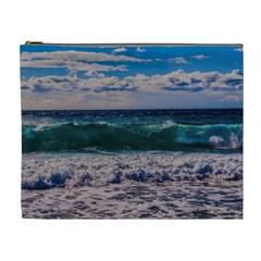 Wave Foam Spray Sea Water Nature Cosmetic Bag (xl)