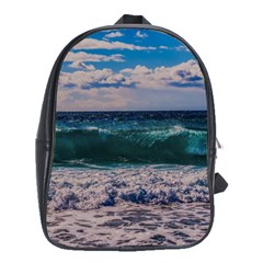 Wave Foam Spray Sea Water Nature School Bags(large)