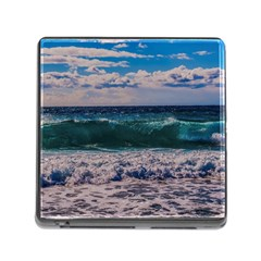 Wave Foam Spray Sea Water Nature Memory Card Reader (square)