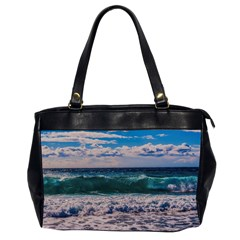 Wave Foam Spray Sea Water Nature Office Handbags (2 Sides)