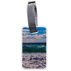 Wave Foam Spray Sea Water Nature Luggage Tags (two Sides)