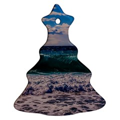 Wave Foam Spray Sea Water Nature Christmas Tree Ornament (Two Sides)