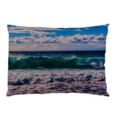 Wave Foam Spray Sea Water Nature Pillow Case (two Sides)