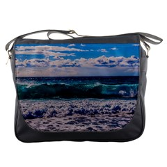 Wave Foam Spray Sea Water Nature Messenger Bags