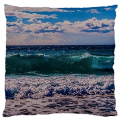 Wave Foam Spray Sea Water Nature Large Cushion Case (two Sides)