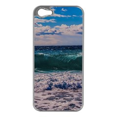 Wave Foam Spray Sea Water Nature Apple iPhone 5 Case (Silver)