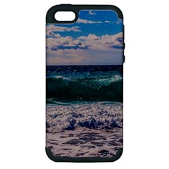 Wave Foam Spray Sea Water Nature Apple Iphone 5 Hardshell Case (pc+silicone)