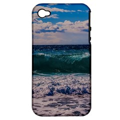 Wave Foam Spray Sea Water Nature Apple Iphone 4/4s Hardshell Case (pc+silicone)