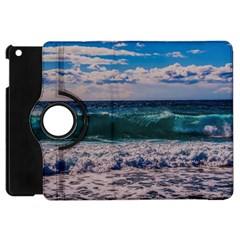 Wave Foam Spray Sea Water Nature Apple iPad Mini Flip 360 Case