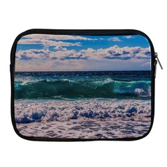 Wave Foam Spray Sea Water Nature Apple Ipad 2/3/4 Zipper Cases