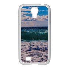 Wave Foam Spray Sea Water Nature Samsung GALAXY S4 I9500/ I9505 Case (White)