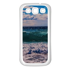Wave Foam Spray Sea Water Nature Samsung Galaxy S3 Back Case (White)