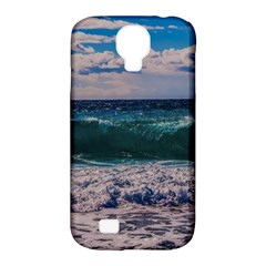 Wave Foam Spray Sea Water Nature Samsung Galaxy S4 Classic Hardshell Case (pc+silicone)