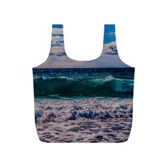 Wave Foam Spray Sea Water Nature Full Print Recycle Bags (s)