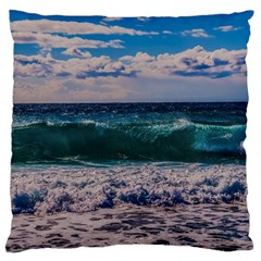 Wave Foam Spray Sea Water Nature Standard Flano Cushion Case (Two Sides)