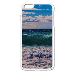 Wave Foam Spray Sea Water Nature Apple iPhone 6 Plus/6S Plus Enamel White Case