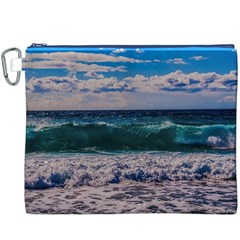 Wave Foam Spray Sea Water Nature Canvas Cosmetic Bag (xxxl)
