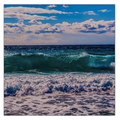 Wave Foam Spray Sea Water Nature Large Satin Scarf (square)