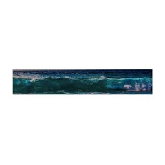 Wave Foam Spray Sea Water Nature Flano Scarf (mini)