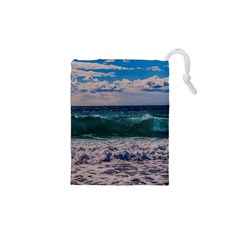 Wave Foam Spray Sea Water Nature Drawstring Pouches (xs)