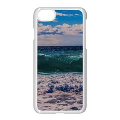 Wave Foam Spray Sea Water Nature Apple Iphone 7 Seamless Case (white)