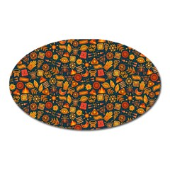 Pattern Background Ethnic Tribal Oval Magnet