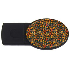 Pattern Background Ethnic Tribal Usb Flash Drive Oval (2 Gb)