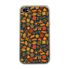 Pattern Background Ethnic Tribal Apple iPhone 4 Case (Clear)