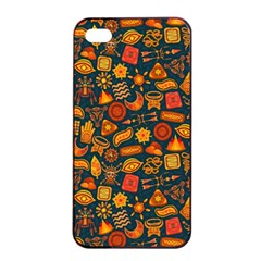 Pattern Background Ethnic Tribal Apple Iphone 4/4s Seamless Case (black)