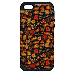 Pattern Background Ethnic Tribal Apple Iphone 5 Hardshell Case (pc+silicone)