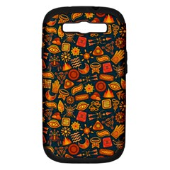 Pattern Background Ethnic Tribal Samsung Galaxy S Iii Hardshell Case (pc+silicone)