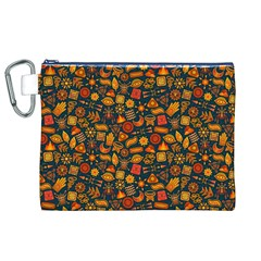 Pattern Background Ethnic Tribal Canvas Cosmetic Bag (xl)
