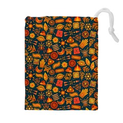 Pattern Background Ethnic Tribal Drawstring Pouches (extra Large)