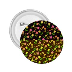 Flowers Roses Floral Flowery 2.25  Buttons