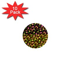 Flowers Roses Floral Flowery 1  Mini Magnet (10 Pack)