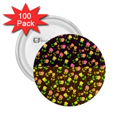 Flowers Roses Floral Flowery 2 25  Buttons (100 Pack)