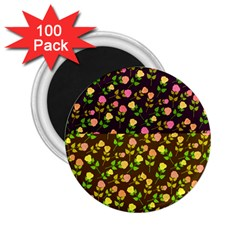 Flowers Roses Floral Flowery 2 25  Magnets (100 Pack)