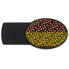 Flowers Roses Floral Flowery Usb Flash Drive Oval (2 Gb)
