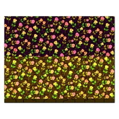 Flowers Roses Floral Flowery Rectangular Jigsaw Puzzl