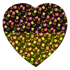 Flowers Roses Floral Flowery Jigsaw Puzzle (heart)