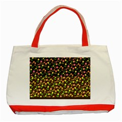 Flowers Roses Floral Flowery Classic Tote Bag (Red)