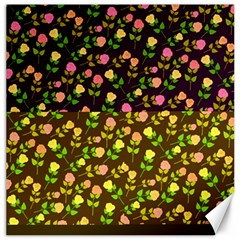 Flowers Roses Floral Flowery Canvas 12  X 12