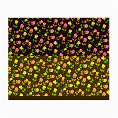 Flowers Roses Floral Flowery Small Glasses Cloth (2 Side)
