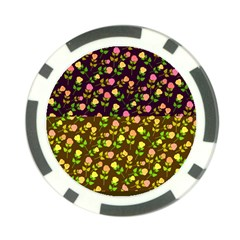 Flowers Roses Floral Flowery Poker Chip Card Guard