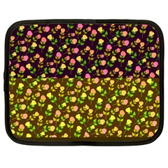 Flowers Roses Floral Flowery Netbook Case (large)