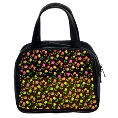 Flowers Roses Floral Flowery Classic Handbags (2 Sides)