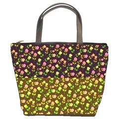 Flowers Roses Floral Flowery Bucket Bags