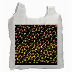 Flowers Roses Floral Flowery Recycle Bag (one Side)