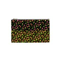 Flowers Roses Floral Flowery Cosmetic Bag (Small)